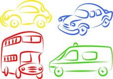 Iconos autos Foto de archivo libre de regalías