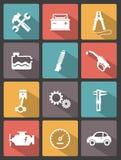 Iconos autos del servicio Fotografía de archivo