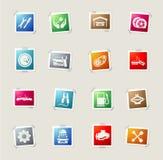Iconos autos del servicio Foto de archivo
