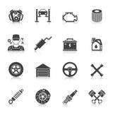 Iconos autos del servicio fijados Foto de archivo libre de regalías