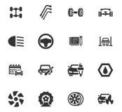 Iconos autos fijados Imagenes de archivo