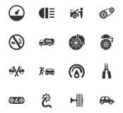 Iconos autos fijados Fotografía de archivo