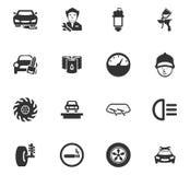 Iconos autos fijados Imágenes de archivo libres de regalías