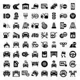 Iconos autos grandes fijados ilustración del vector