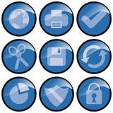 Iconos azules Foto de archivo