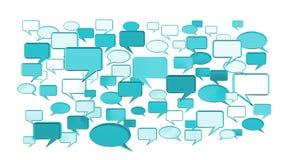 Iconos azules de la conversación Imagen de archivo