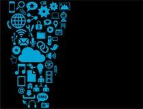 Iconos azules de la interfaz de usuario  stock de ilustración