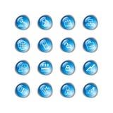 Iconos azules del asunto de la gota