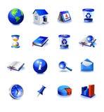 Iconos azules del diseño ilustración del vector