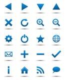 Iconos azules del Web de la navegación Imagen de archivo libre de regalías