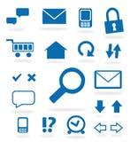 Iconos azules del Web site Fotos de archivo
