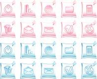 Iconos azules y rosados del Web Imágenes de archivo libres de regalías