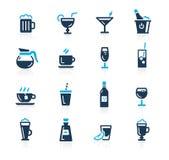 Iconos //Azure Series de las bebidas stock de ilustración