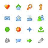 Iconos básicos coloridos del Web Ilustración del Vector