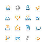Iconos básicos del contorno Stock de ilustración