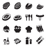 Iconos básicos del filete fijados ilustración del vector