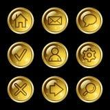 Iconos básicos del Web stock de ilustración