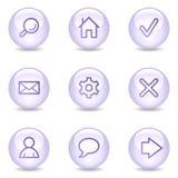 Iconos básicos del Web, serie brillante de la perla ilustración del vector