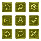 Iconos básicos del Web, serie de la tarjeta de la electrónica Foto de archivo