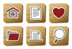 Iconos básicos | Serie de la cartulina Imágenes de archivo libres de regalías