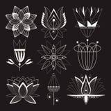 Iconos bajo la forma de flores Imagen de archivo libre de regalías
