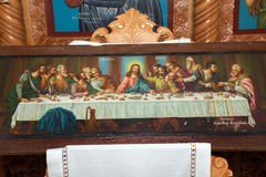 Iconos bizantinos hechos a mano Foto de archivo libre de regalías