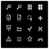 Iconos blancos del espectador Libre Illustration