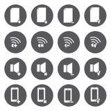 Iconos blancos del vector para el web y el móvil Fotos de archivo libres de regalías