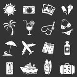 Iconos blancos del viaje Fotografía de archivo