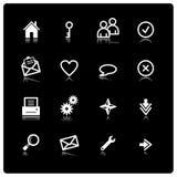 Iconos blancos del Web Fotografía de archivo libre de regalías