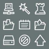 Iconos blancos del Web de los datos Imagen de archivo libre de regalías