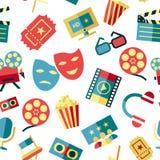 Iconos blancos rojos del cine del vector de Digitaces libre illustration