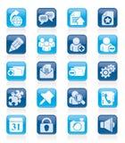 Iconos blogging de Internet Fotos de archivo libres de regalías