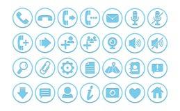 Iconos/botones ilustración del vector
