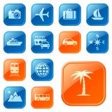 Iconos/botones del recorrido Imagen de archivo
