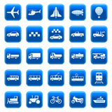 Iconos/botones del transporte Imagen de archivo libre de regalías