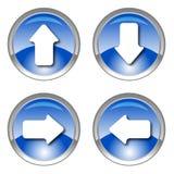 Iconos brillantes azules de la flecha Imagen de archivo