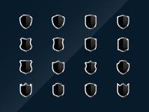 Iconos brillantes del blindaje Imagen de archivo libre de regalías