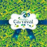 Iconos brillantes del carnaval del vector Imagenes de archivo