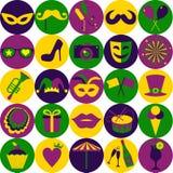 Iconos brillantes del carnaval Modelo inconsútil Foto de archivo