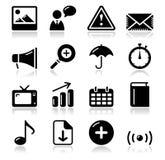 Iconos brillantes del sqaure del Internet del Web site fijados Imagen de archivo libre de regalías