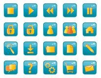 Iconos brillantes del Web Imágenes de archivo libres de regalías