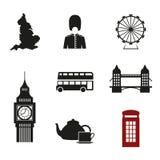 Iconos británicos stock de ilustración