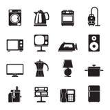 Iconos caseros del equipo de la silueta Imagen de archivo