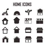Iconos caseros del vector Stock de ilustración