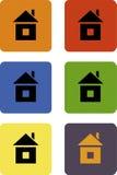 Iconos caseros del web, botones Ilustración del Vector