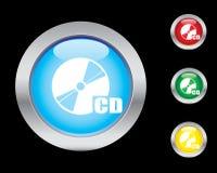 Iconos CD Fotografía de archivo libre de regalías