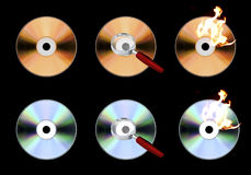Iconos CD Fotografía de archivo
