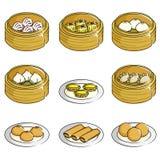Iconos chinos de la suma dévil stock de ilustración