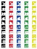 Iconos coloreados 2 Fotografía de archivo